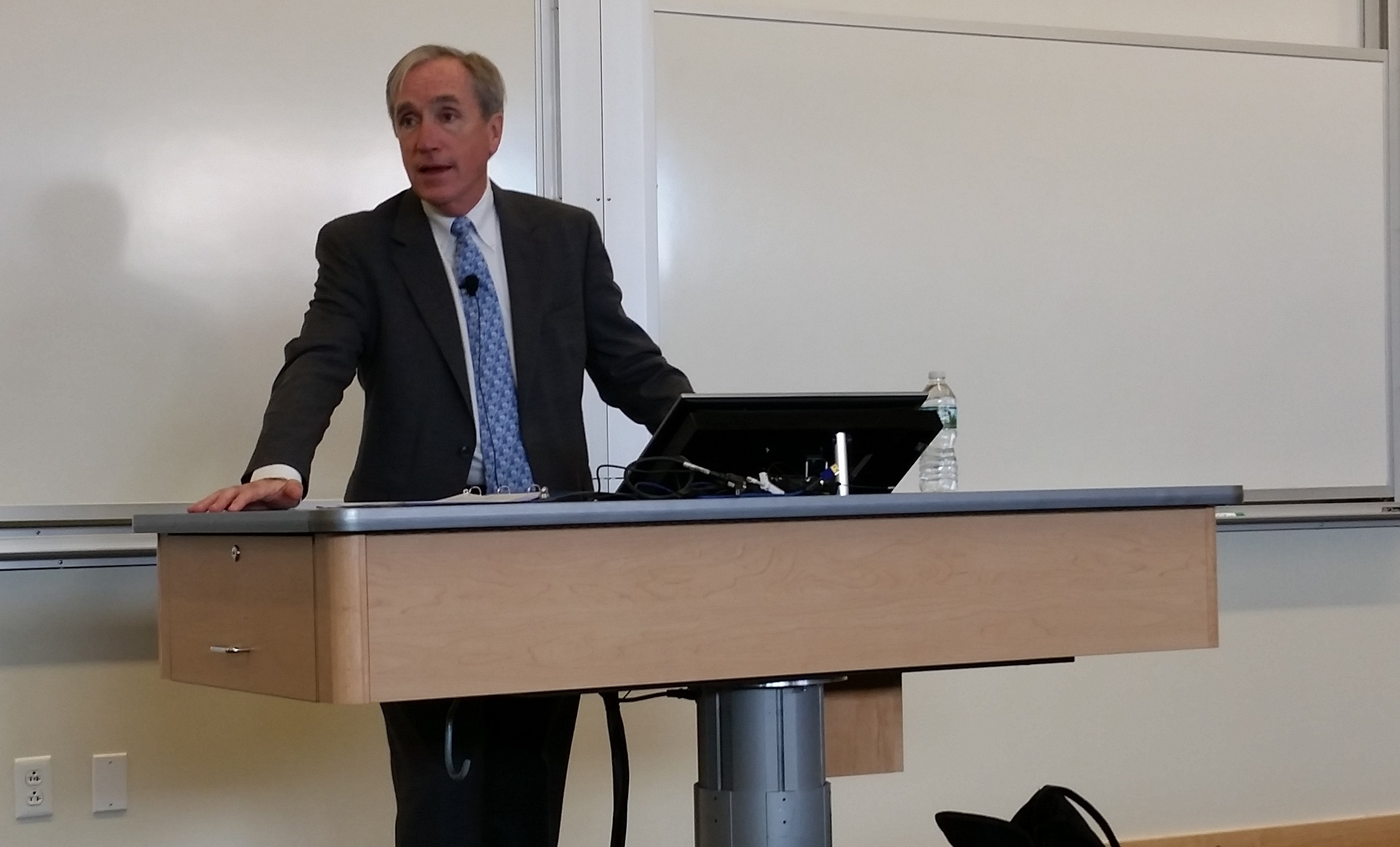 Jack Brennan participates in Distinguished Speaker Series