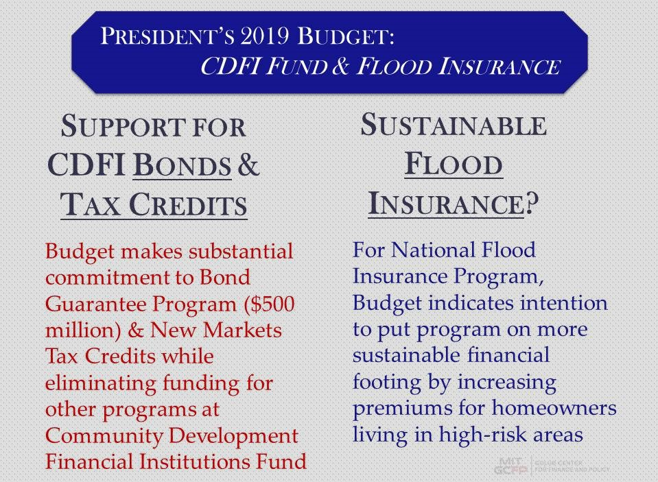 CDFI Fund & Flood Insurance