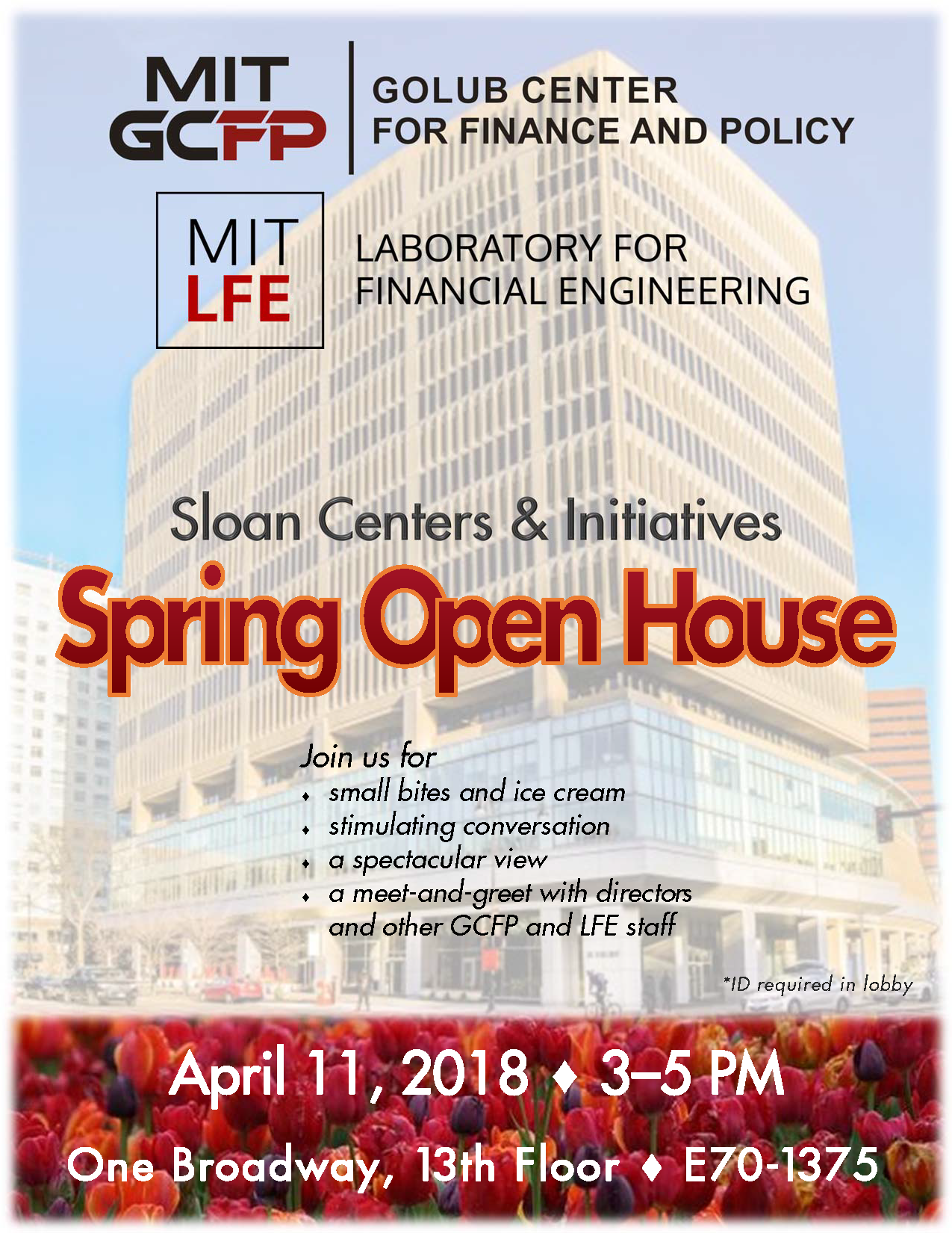 GCFP and LFE Spring Open House April 11, 3-5PM