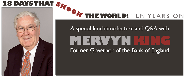 Mervyn King Public Lecture and Q&A