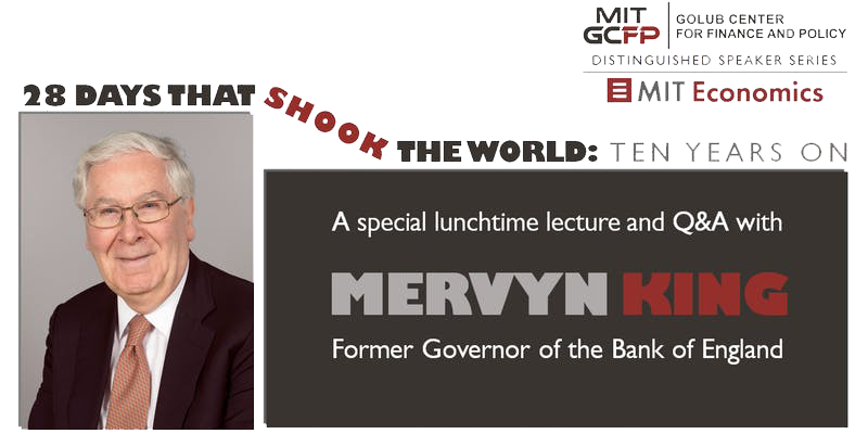 Mervyn King Lunchtime Lecture