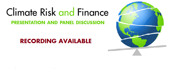 Stream the Climate Risk and Finance symposium
