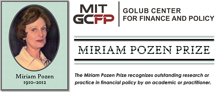 Winners of the Miriam Pozen Prize to be announced this spring