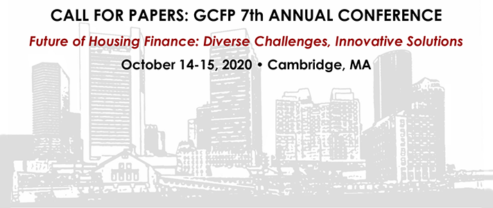 SUBMIT PAPERS FOR OUR HOUSING FINANCE CONFERENCE BY MAY 15