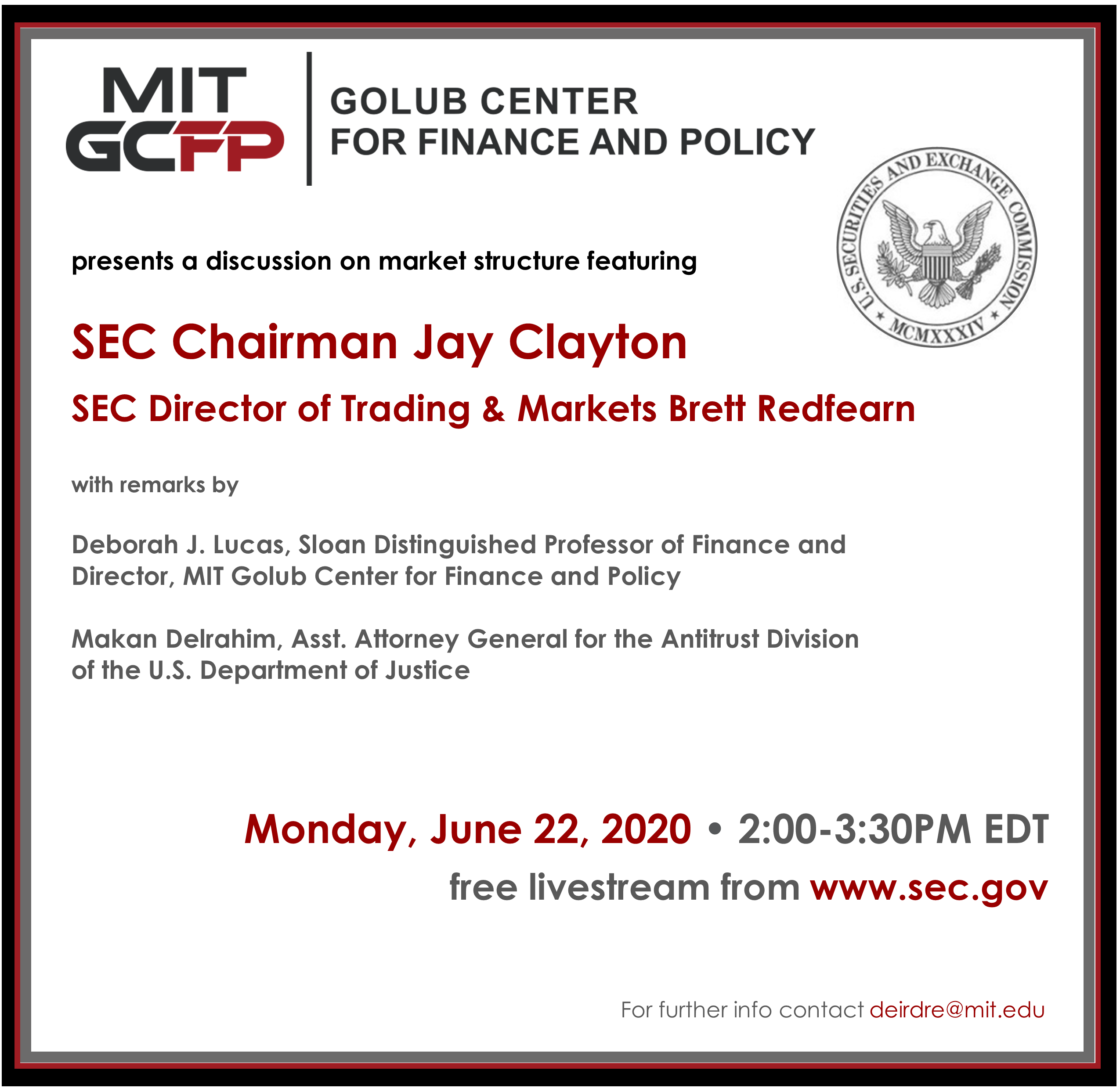 A discussion on market structure featuring SEC Chairman Jay Clayton