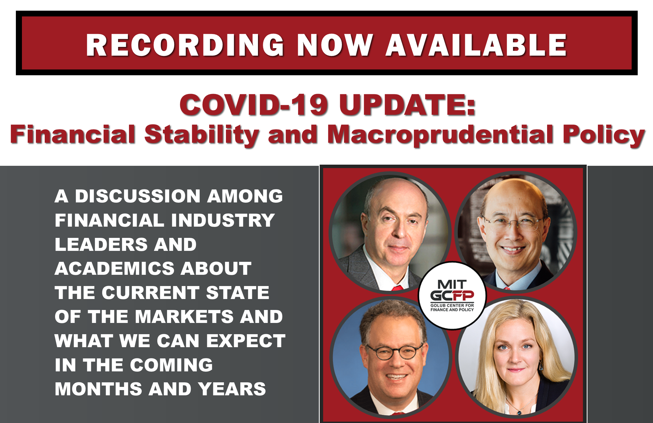 COVID-19 UPDATE: Financial Stability and Macroprudential Policy