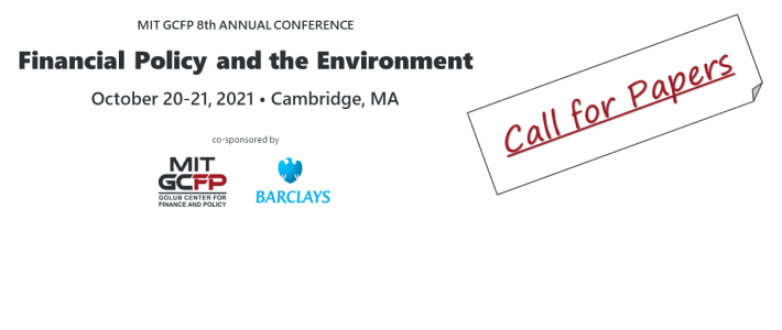 CALL FOR PAPERS: Financial Policy and the Environment